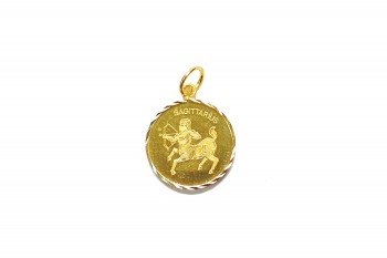 916 GOLD MAPLE LEAF PENDANT